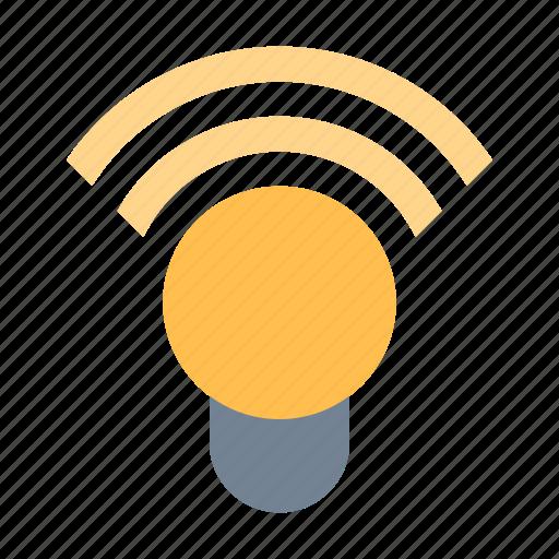 color, lamp, wireless icon