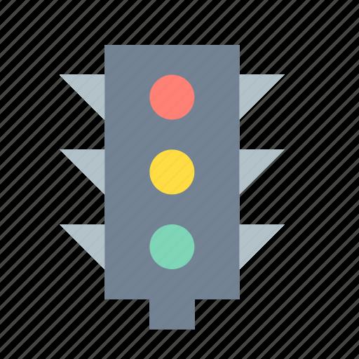 road, traffic lights, transport icon