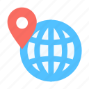 targeting, location, geo, globe icon