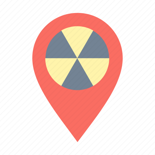 geo, location, nuclear, targeting icon