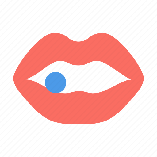 Lips, mouth, pill icon - Download on Iconfinder