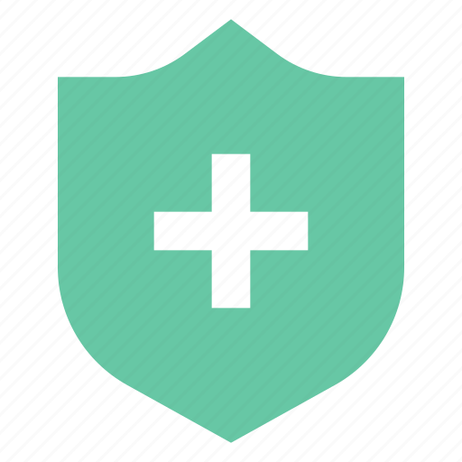 cross, insurance, safe icon