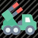 katyusha, launcher, missile icon