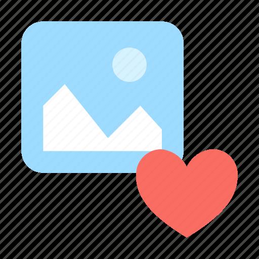 like, love, photo icon