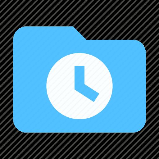 Folder, history, clock icon - Download on Iconfinder