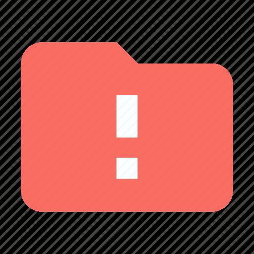 Alert, folder, storage icon - Download on Iconfinder
