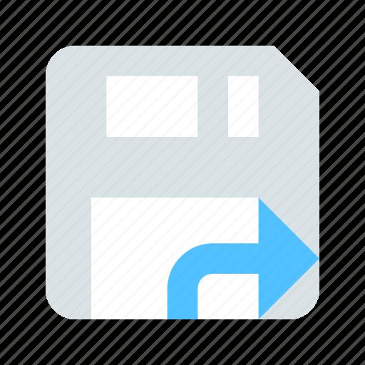 Diskette, export icon - Download on Iconfinder on Iconfinder
