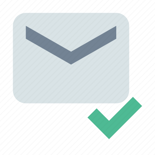 check, delivered, message icon