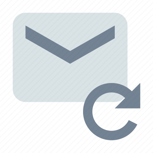 email, message, refresh icon