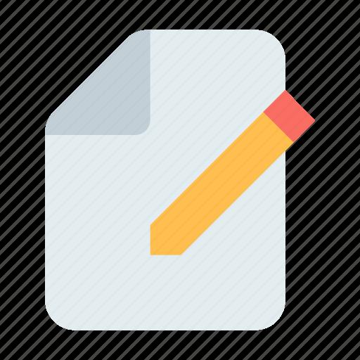 document, new, write icon