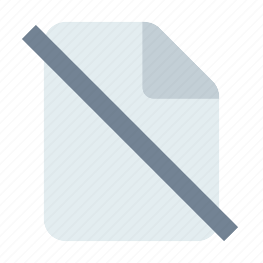 block, delete, document icon