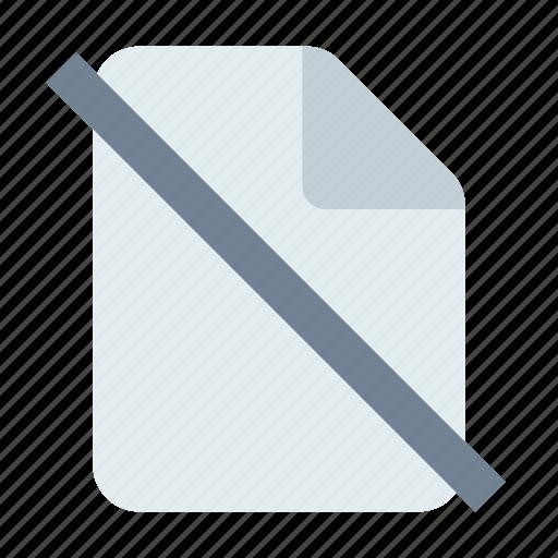 Block, delete, document icon - Download on Iconfinder
