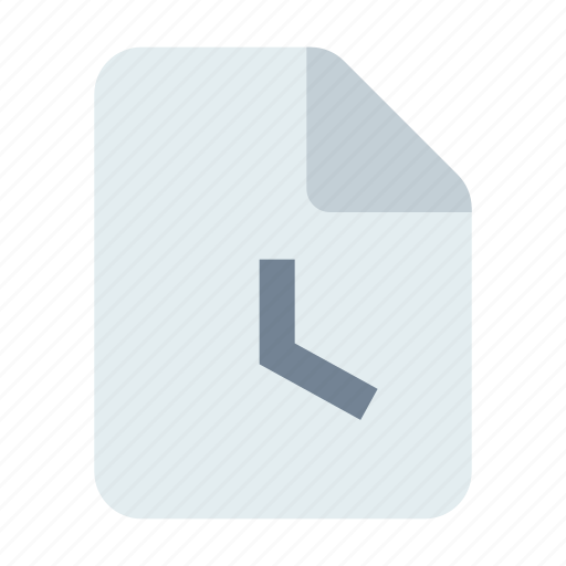 clock, document, time icon