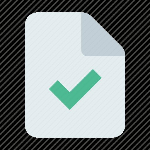approve, check, document icon