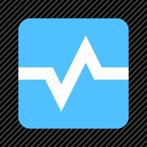 finance, pulse, stats icon