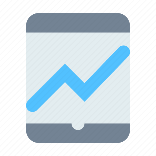 analytics, application, tablet icon