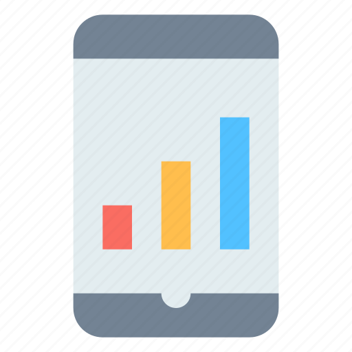 finance, smartphone, stats icon