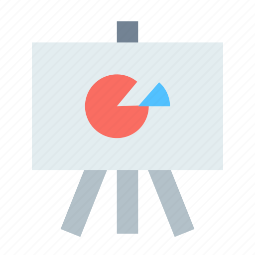 easel, pie chart, presentation icon