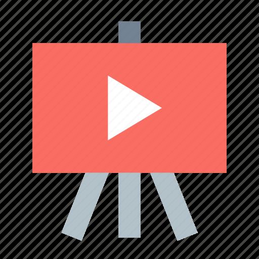 presentation, video icon