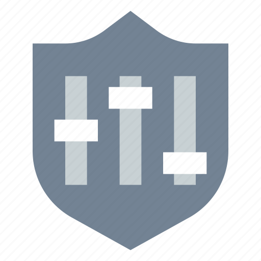 control, security, settings, shield icon