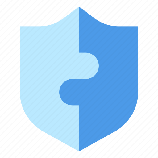 modal, protection, puzzle, shield icon