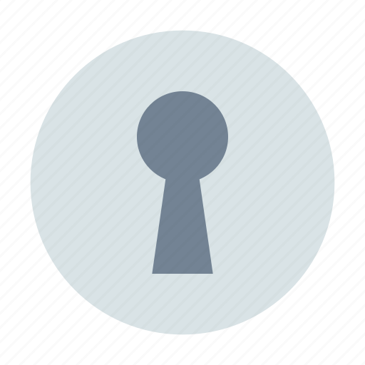 keyhole, password, private icon
