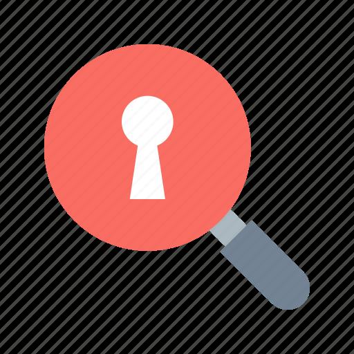 keyhole, secret, spy icon