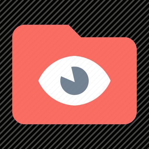 folder, private, secret, spy icon