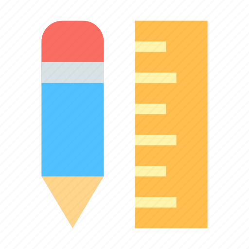applications, pencil, rule icon