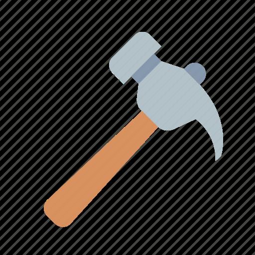 hammer, nail, puller icon