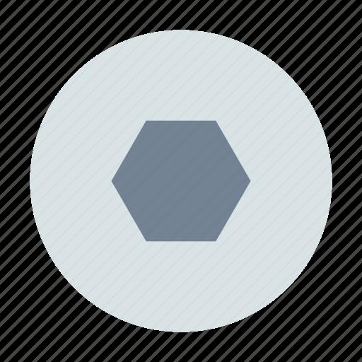 hexahedron, screw, screwdriver icon