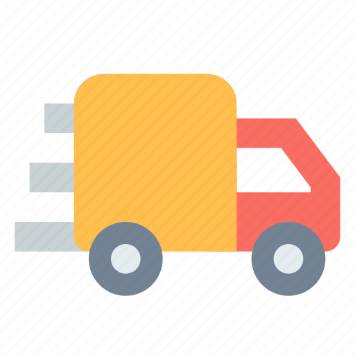 delivery, logistic, rush, truck icon
