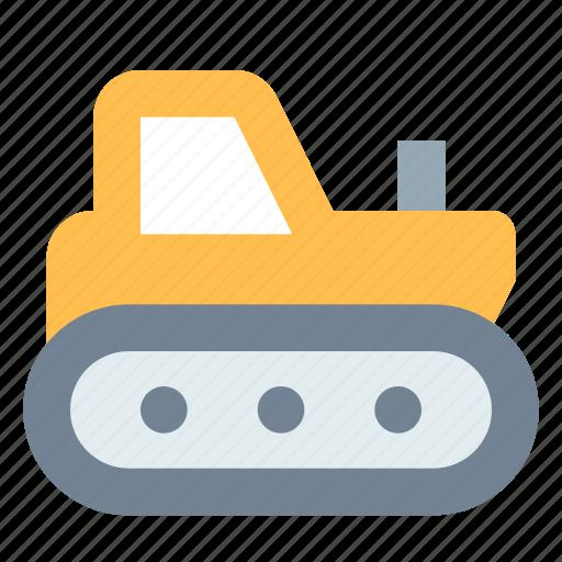 caterpillar, construction, industrial, tractor icon