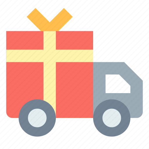 Delivery, present, shipping, truck icon - Download on Iconfinder
