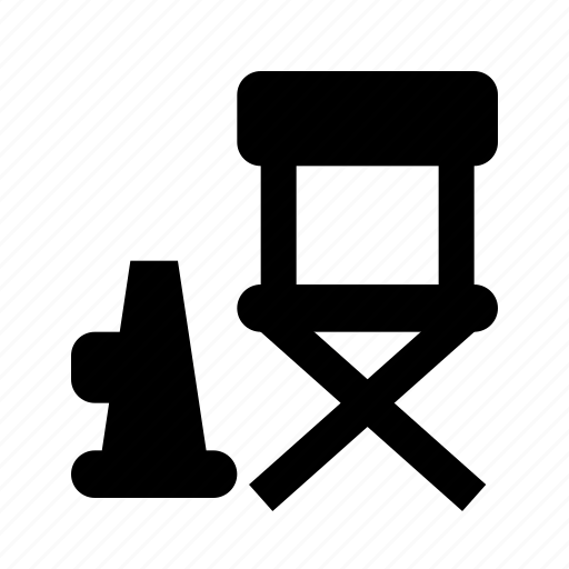 chair, cinema, director icon