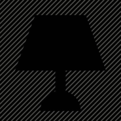 desk, furniture, interior, lamp, light icon