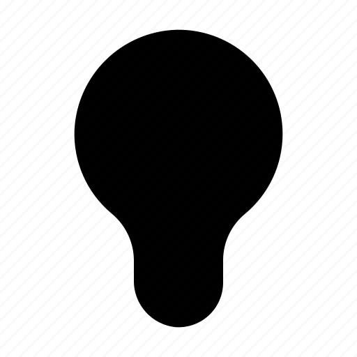 idea, inactive, incandescent, lamp, light, off, spherical icon