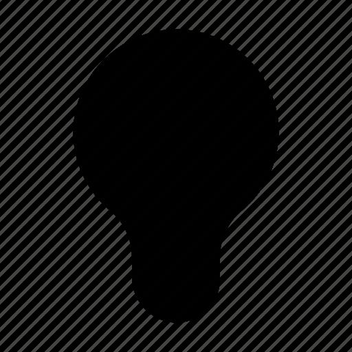idea, lamp, off icon