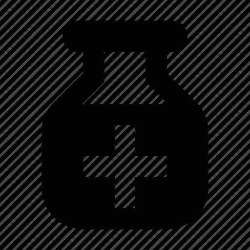 antidote, bottle, medical icon