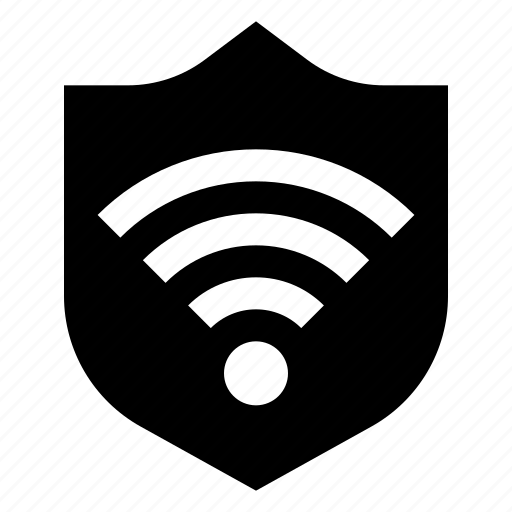 connection, firewall, internet, protection, security, shield, wifi icon