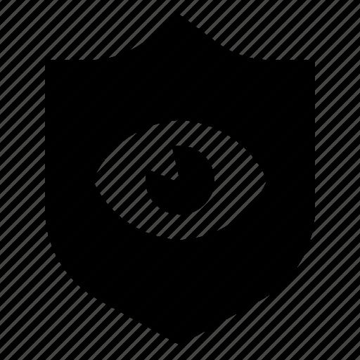 defense, eye, guard, private, protection, shield icon