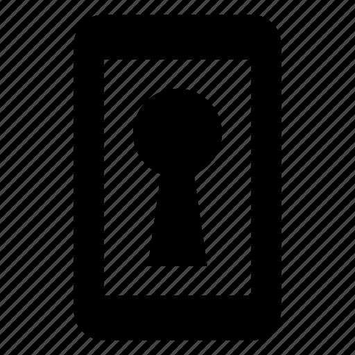 access, device, erotic, hacker, keyhole, secret, smarphone icon