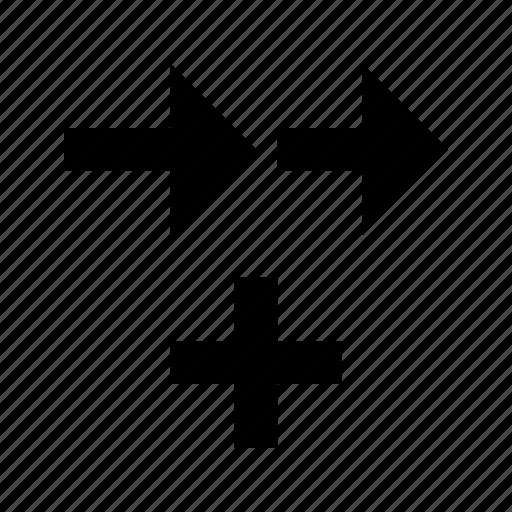 add, arrows, traffic icon