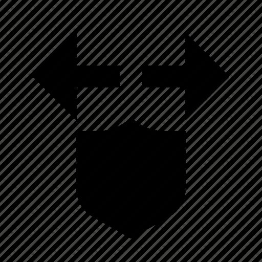 arrows, security, shield icon