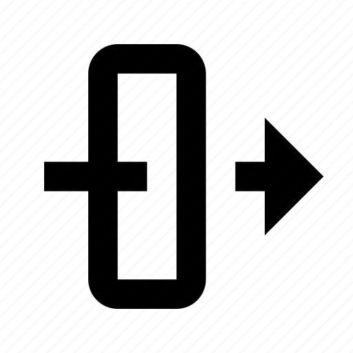 arrows, gateway, security icon