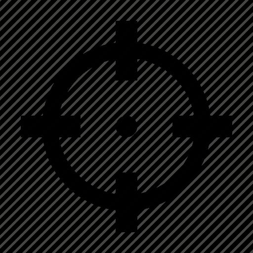 aim, gun, target icon