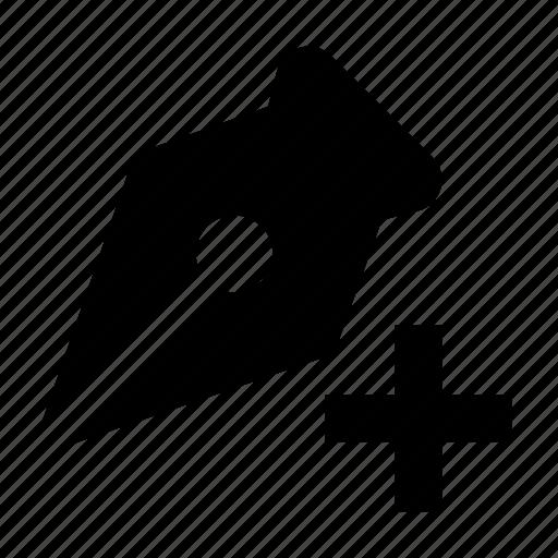 add, anchor, classic, ink, pen, retro, tool icon