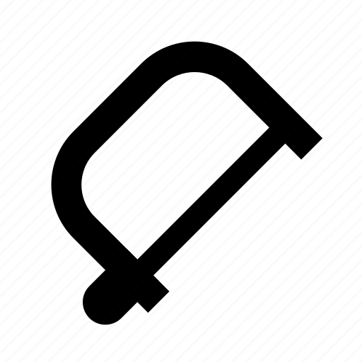 fretsaw, hand, saw, tool icon