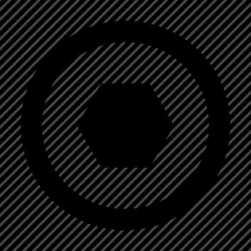 crew, hexahedron, screwdriver icon