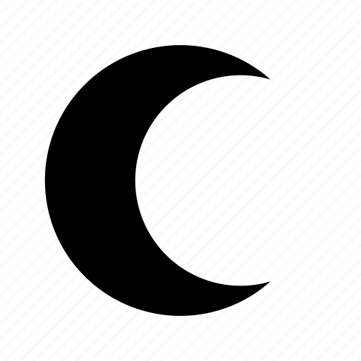 crescent, moon, weather icon